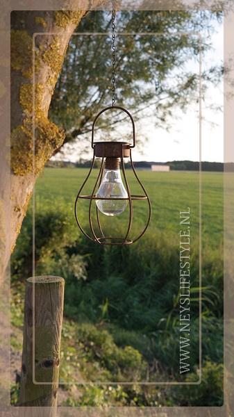 Solar buitenlamp hanger | roest