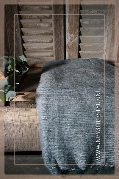 Plaid Manda 170 x 130 cm | light grey