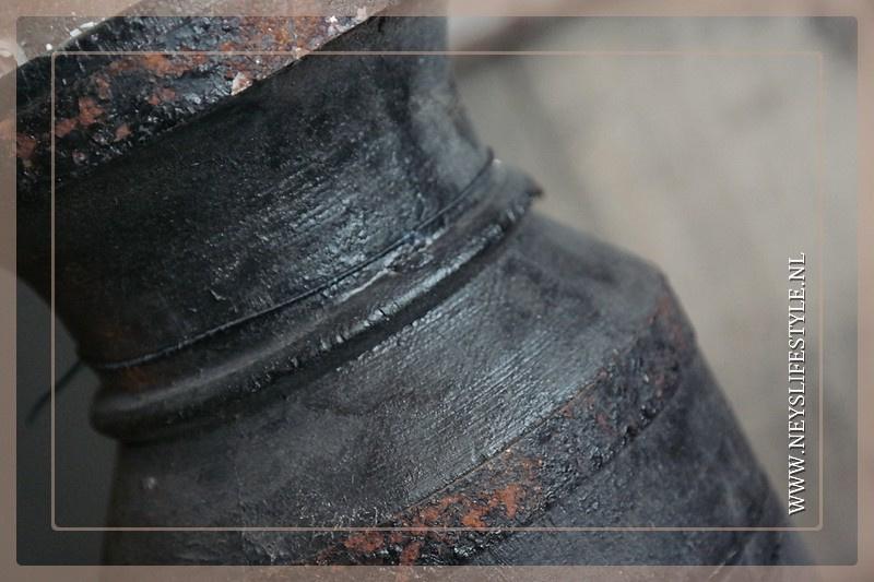 Kruik kandelaar black finish | M