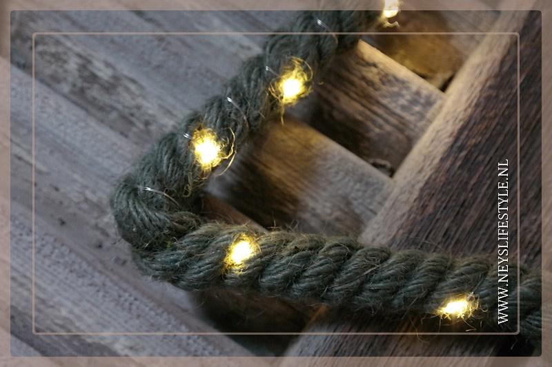 LED figuur touw   Ster groen M