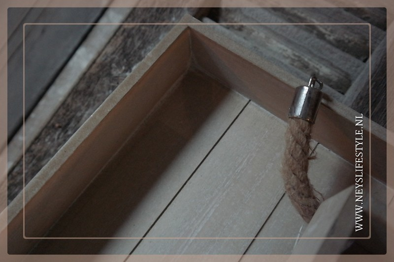 Dienblad met touw whitewash | M