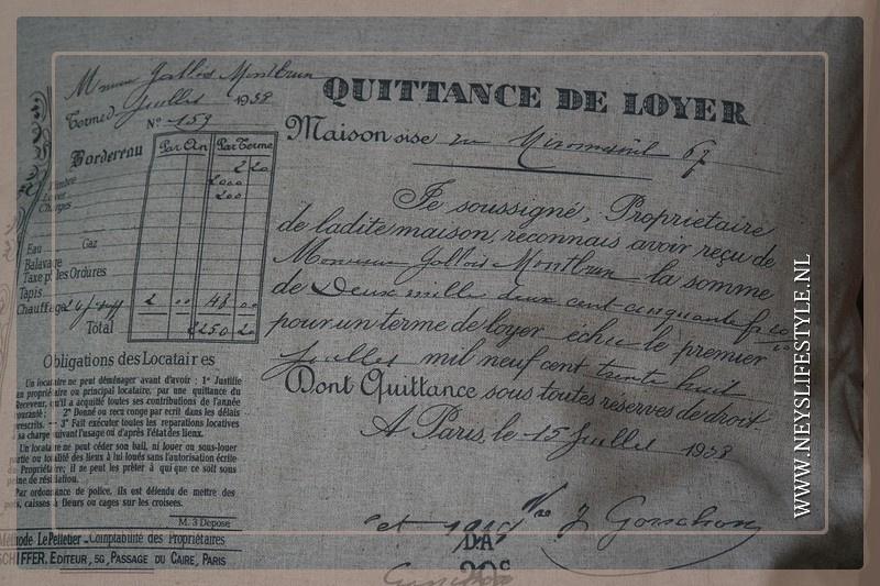 Kussen print Quittance 45 x 45 cm