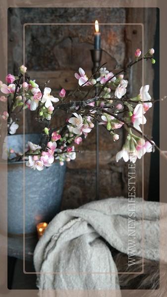 Bloesem tak | roze 85 cm