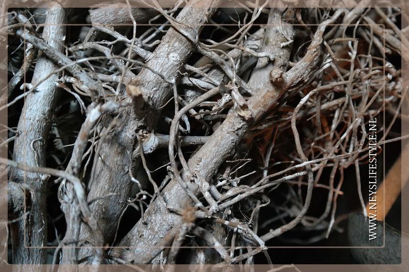 Krans wortel grey |  85 cm