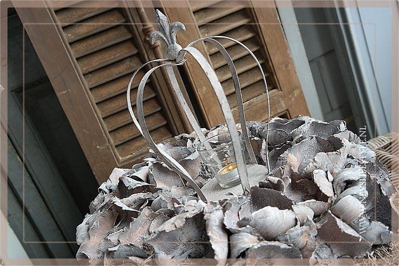 Krans Palm Cup | Whitewash | 45cm