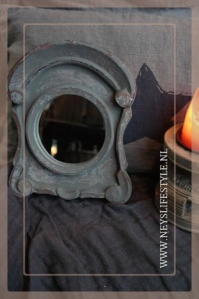 Spiegel Ossenoog mini beige