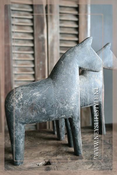 Houten paard L | grey