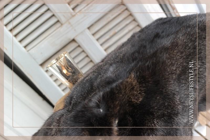 Konijnenvachtje zwart/donkerbruin