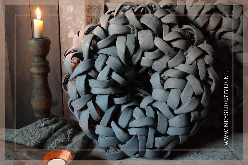 Krans Coco  slice | grey | 45 cm