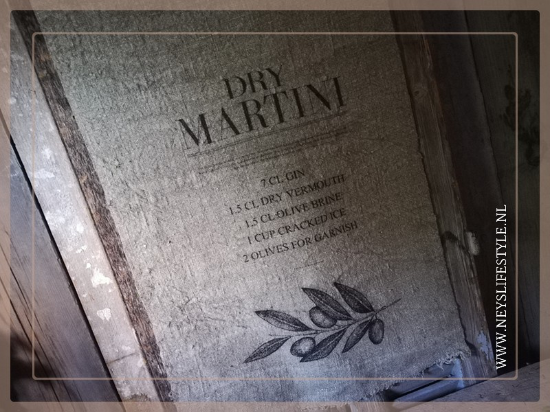 Wanddoek   Cocktail Martini