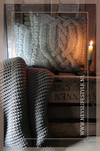 Kussen Knit 40 x 40 cm | grijs