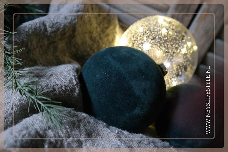 Kerstbal velvet groen | M