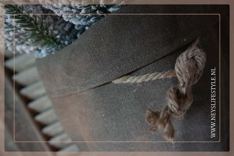 Mand/zak linnen  bruin
