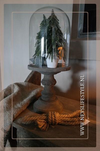 Kerstboom in pot glitter | S