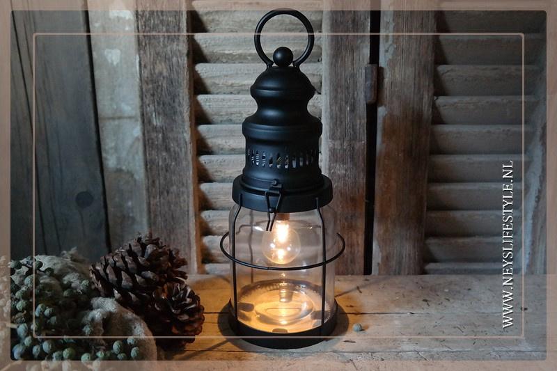 Olielamp lantaarn | black