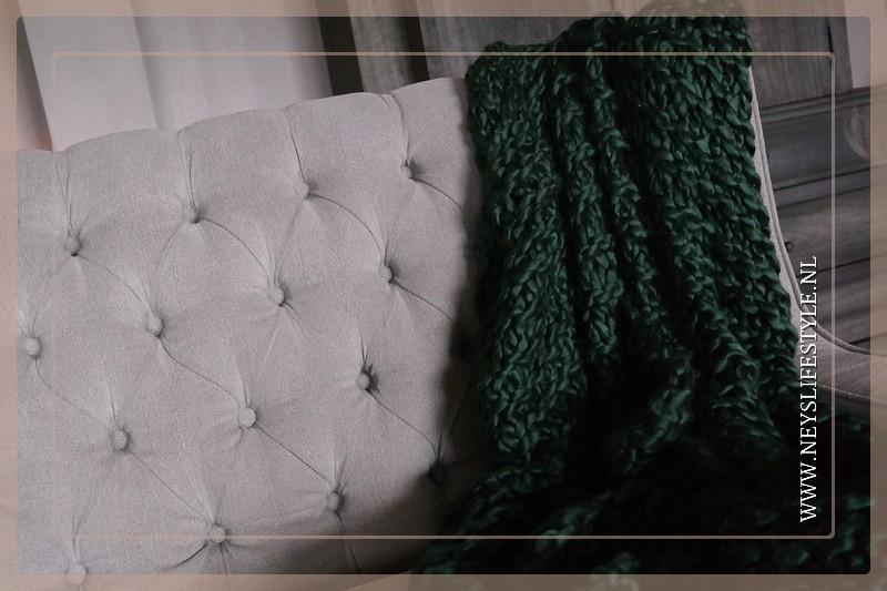 Grof gebreid plaid 170 x 130 cm | acryl green