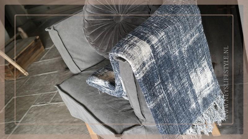 Plaid 130 x 170 cm | washed blue