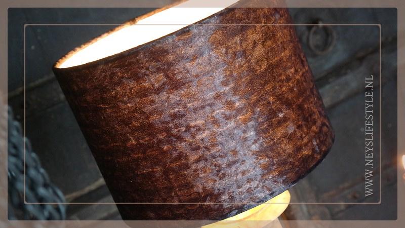 Lampen kap | velvet croco brown