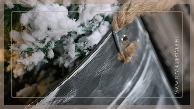 Emmer grijs met touw