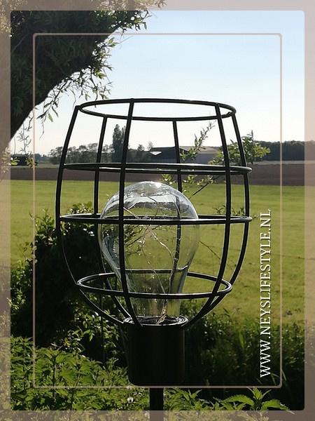 Solar buitenlamp tuinsteker | zwart