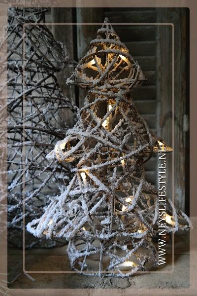 Kerstboom rotan LED  | S