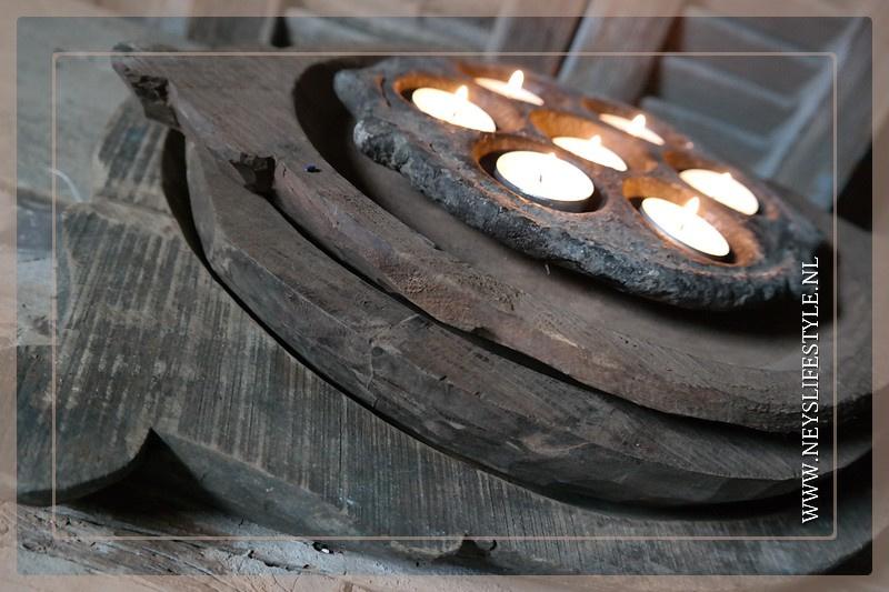 Oude originele houten schaal | oor