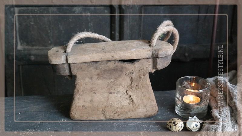 Oude houten oliebox | 3