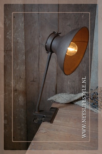 Klemlamp LED Oscar | roest