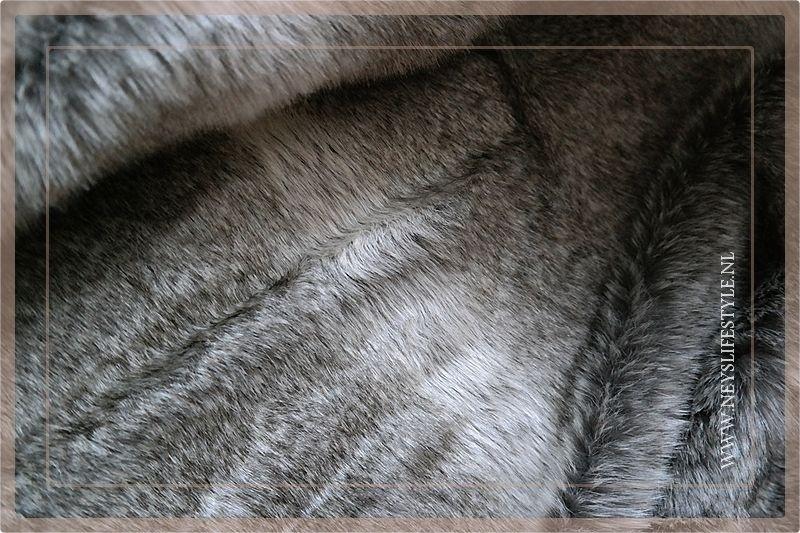 Luxe bont plaid 220 x 200 cm bruin