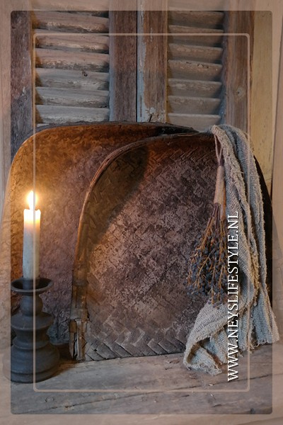 Oude bamboe rijstschep | S