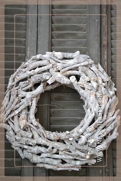 Krans wood grey wash 50 cm