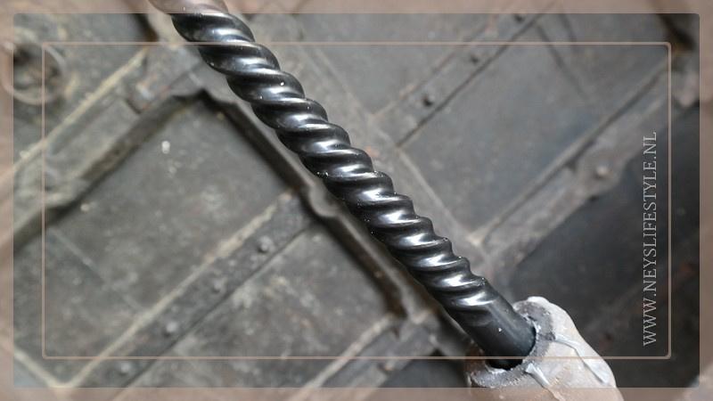 Spiraal kaars | zwart 6 st