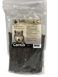 Carnis hondensnacks konijnenvlees strips 150 gram.