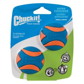 Chuckit ultra squeaker ball small (2 stuks)