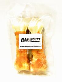 Rawhide bot met kip 12,5 cm. (2 stuks)