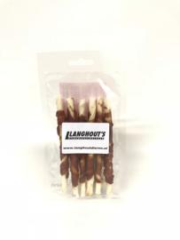 Rawhide kauwsticks met eend small (6 stuks)