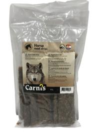 Carnis hondensnacks paardenvlees strips 150 gram.