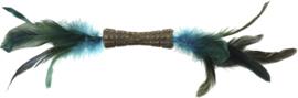 GIGWI catnipstick dubbelzijdig blauw veren