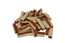 Kip Kabeljauw snacks 100 gram.