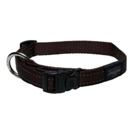 Rogz 4 Dogz Nylon Halsband Bruin