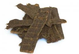 Carnis hondensnacks lamsvlees strips 150 gram.