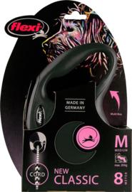 Flexi New Classic Koord M Zwart (8 mtr)