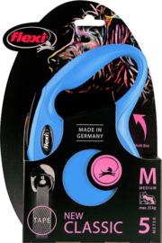 Flexi New Classic Tape M Blauw (5 mtr)