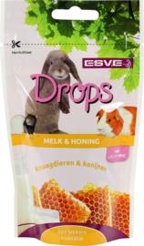 ESVE drops melk en honing 75 gram.