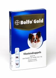 Bolfo Gold Hond 40 (tot 4 kg.) 4 pipet