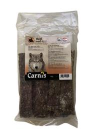 Carnis hondensnacks rundvlees strips 150 gram.
