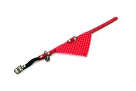 Kattenhalsband met doek rood