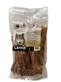 Carnis hondensnacks kalkoenvlees strips 150 gram.