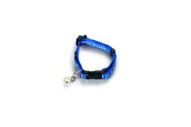 Kittenhalsbandje nylon blauw