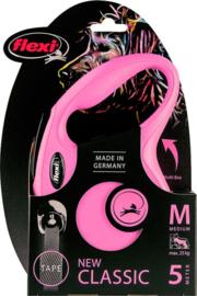 Flexi New Classic Tape M Roze (5 mtr)